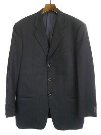 【中古】ARMANI COLLEZIONI アルマーニ コレツィオーニ シャドウバイアスセットアップスーツ ブラック 54 メンズ
