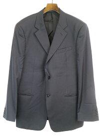 【中古】ARMANI COLLEZIONI アルマーニ コレツィオーニ ウールシルクシャドウストライプセットアップスーツ ブラック 54 メンズ