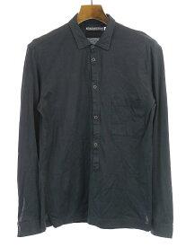 【中古】CHRISTOPHE LEMAIRE クリストフ ルメール 01SS スナップボタンプルオーバーコットンシャツ ブラック 2 メンズ