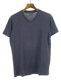 【中古】JIL SANDER ジルサンダー 12SS VネッククラシックTシャツ ネイビー メンズ