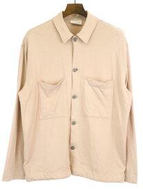 【中古】LEMAIRE ルメール 19SS JERSEY OVER SHIRT コットンジャージーオーバーサイズシャツジャケット ピンク XS メンズ