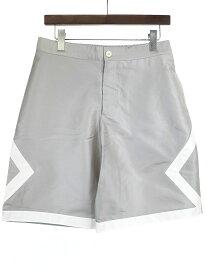【中古】Dior × NIKE Jordan Brand ディオール × ナイキジョーダンブランド 20SS Silk Shorts シルクショーツ ハーフパンツ エアディオール シルバー 44 メンズ