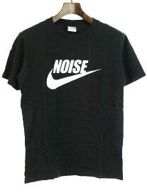 【中古】NIKE × FRAGMENT DESIGN ナイキ × フラグメントデザイン NOISE TEE プリントTシャツ ブラック S メンズ