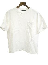 【中古】junhashimoto ジュンハシモト 19SS NAGOYA LIMITED BIG TEE ポケット付きビッグTシャツ ホワイト 3 メンズ