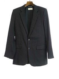 【中古】SAINT LAURENT PARIS サンローラン パリ 15AW 2Bウールセットアップスーツ ブラック 44 メンズ