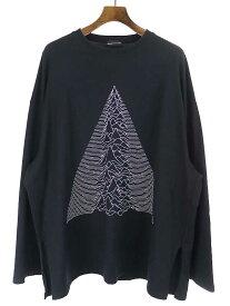 【中古】LAD MUSICIAN ラッドミュ-ジシャン 19SS LONG SLEEVE SUPER BIG T-SHIRT ロングスリ-ブス-パ-ビッグTシャツ ブラック F メンズ