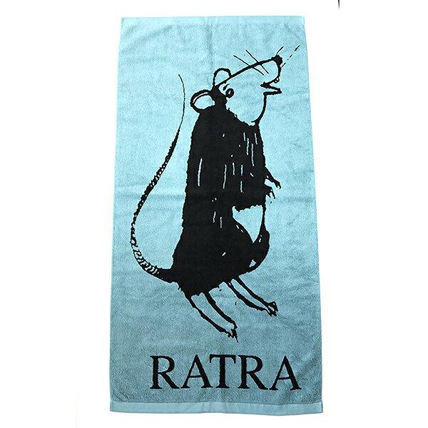 【中古】UNDER COVER アンダーカバー RATRA バスタオル グリーン×ブラック F
