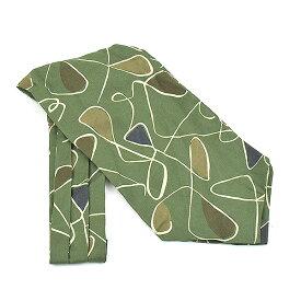 【中古】fiorio フィオリオ コットンシルク総柄スカーフ カーキ その他服飾