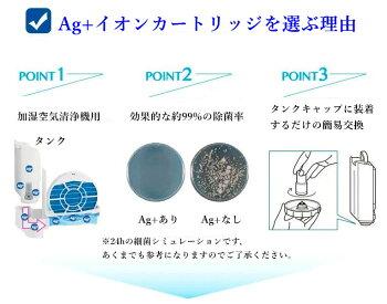 SHARPFZ-AG01K1シャープ加湿空気清浄機用Ag+イオンカートリッジ制菌FZAG01K1FZ-AG01K2消耗品1個入り2個セット【社外品】