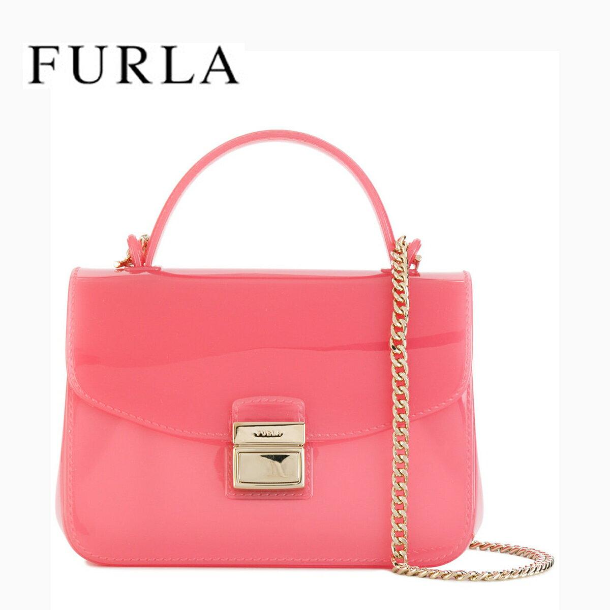 フルラ FURLA CANDY MINI CROSSBODY Ortensia D-Pink 920194 バッグ キャンディ チェーンショルダーミニクロスボディ