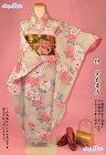 【レンタル】成人式正絹振袖セット(クリーム時牡丹柄)安心フルセットレンタル
