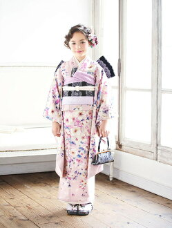 The Seven-Five-Three Festival to have a difference with ♪ brand with perfect longed-for Jill Stewart 2018 new work Seven-Five-Three Festival kimono 7 years old full set kimono JILLSTUART brand kimono Seven-Five-Three Festival 7 years old kimono 7 years o