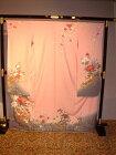 【レンタル】成人式正絹振袖セット(ピンク花柄)安心フルセットレンタル