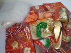 【レンタル】成人式正絹振袖フルセット89800円均一オレンジ安心フルセットレンタル