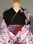 レンタル卒業式袴スタイルNICOLEブランド二尺袖着物成人式にも♪袴セット007BK