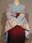 レンタル卒業式袴スタイル二尺袖着物安心フルセットレンタル!成人式にも♪袴セット009PB