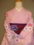 レンタル卒業式袴スタイル二尺袖着物成人式にも♪袴セット011PI