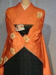 レンタル卒業式袴スタイル二尺袖着物袴セット018