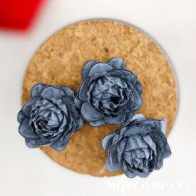 造花【1個入り】スーパー繊維(高強度+高弾性の繊維)紺色紺色 花 造花 花材 アクセサリー材料 手芸材料 クラフト フラワー petal