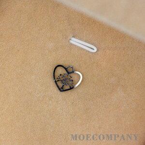 ステンレス製 【2個入り】【0.4mm】レジンパーツ 木 菩提樹 ペンダントトップ ネックレス トップ
