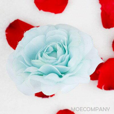 【花のみ】アーティフィシャルフラワー  水色 ローズ シルクフラワー 造花  フェイクフラワー 花 フラワー アクセサリー ブローチ コサージュに