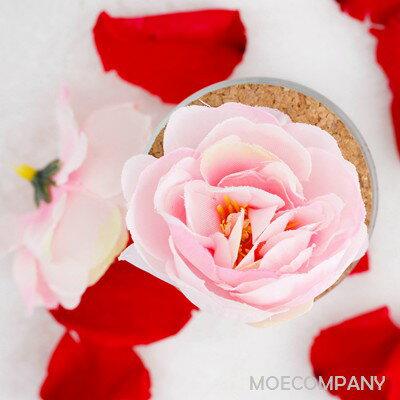 【花のみ】アーティフィシャルフラワー ピンク ミニバラ シルクフラワー 造花 フェイクフラワー 花 フラワー アクセサリー ブローチ コサージュに