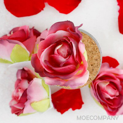 【花のみ】アーティフィシャルフラワー バラカップ咲き シルクフラワー 造花 フェイクフラワー 花 フラワー アクセサリー ブローチ コサージュに