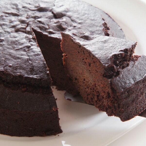 卵・小麦粉・乳製品不使用のガトーショコラ12cm 米粉ケーキ