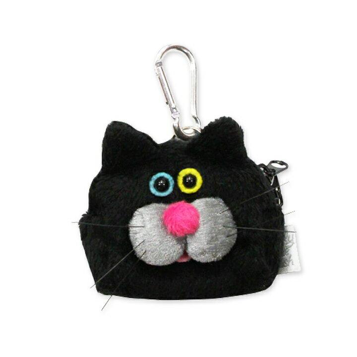 【メール便対応】ウィスカーズミニケース ネコ(Whiskers Mini Case cat)GLADEE(グラディー)コインケース(お財布)やリップポーチなどに使える面白かわいいキーホルダー♪ お菓子やアクセサリー、イヤホンケースにおすすめ