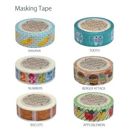 クラフトテープ4Pセット・スクラップブッキング、アルバムの写真コラージュ、ラッピングなどに色々使える便利な文房具☆ドット柄、花柄などおしゃれかわいいマスキングテープがいっぱい♪