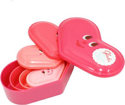 ハートランチボックスセット(Lunch Box Set heart) GLADEE(グラディー)・かわいいお弁当箱、おべんとうばこだけでなくフードコンテナや保存容器などの代わりに、弁当箱だけでなくギフトボックスや小物入れにも!女の子の子供にもオススメです♪