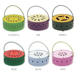 夏野菜蚊取り箱 果物や野菜のかわいい蚊やり線香箱&フラワーモチーフ蚊遣り箱♪スタンド付属!アウトドアや野外キャンプBBQに。インテリア雑貨として夏ギフトにもおすすめな電気を使わ