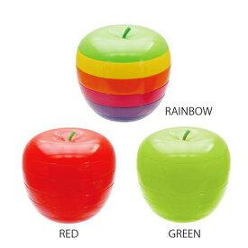 【送料無料】アップル プレートセット Lサイズ・りんごのかわいいメラミンのお皿。軽くて割れにくいので赤ちゃん、キッズのランチプレートや子供用食器、キャンプ、アウトドア、パーティーにも♪雑貨を置くおしゃれなトレイやベビーギフトにもおすすめです♪