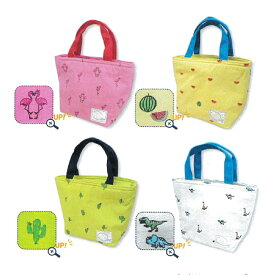 【メール便送料無料】キャンバス保冷トートバッグ・保冷保温機能付きランチトートバッグ。おしゃれかわいいデザインで子供キッズや男の子・女の子に。小学生 幼稚園 かわいい小さい小さめミニバッグ鞄、サブバッグとしても。アルミ クーラー 恐竜