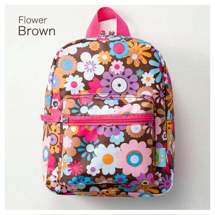 【メール便送料無料】キッズバックパックフラワーピンクKEYSTONE(キーストーン)毎日の通園バッグ(幼稚園バッグ)におすすめ!軽量仕様なので遠足、旅行用のリュックサックやレッスンバッグとしてもオススメです!【
