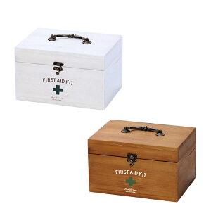 【送料無料】ファーストエイドボックス Sサイズ(First Aid Box)・おしゃれでかわいいフタ付き収納救急箱。おもちゃ入れや工具箱、収納箱(収納ケース)などに。アンティークデザインの木製