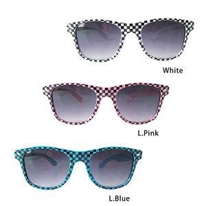 【メール便対応】サングラスBlack Check(Sunglass)・パーティやイベントを盛り上げる人気の眼鏡♪ダイカットのおもしろメガネからおしゃれな伊達メガネまで個性的なめがねがたくさん♪紫外線/