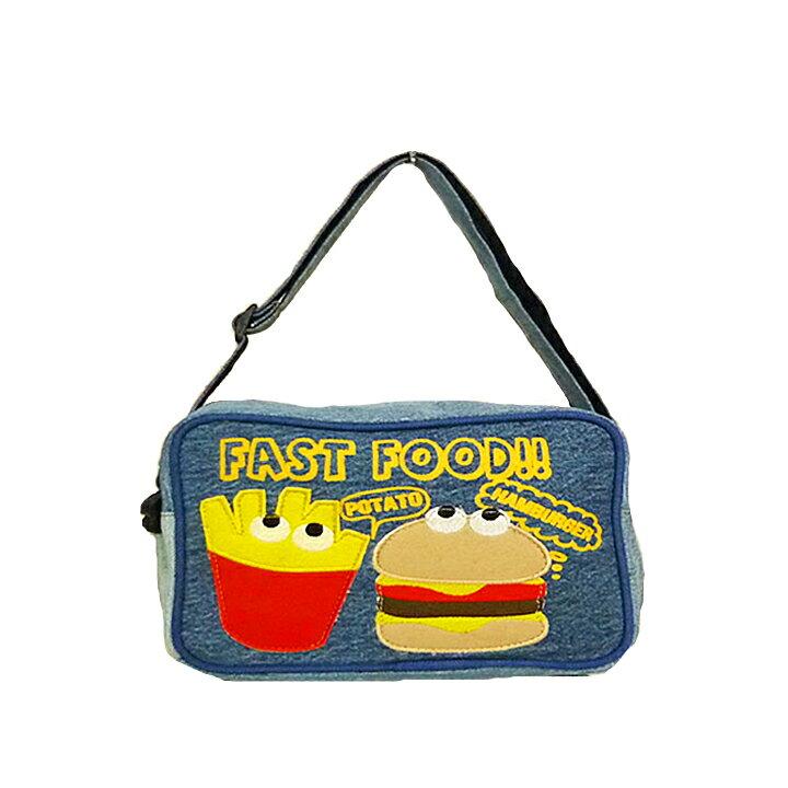 【送料無料】ポテバーガーショルダーバッグ(通園バック)子供の通園バッグにかわいいキッズキンダーガーデンバッグ♪肩掛け斜めがけで普段の幼稚園バッグ(保育園バッグ)におすすめ♪男の子や女の子のレッスンバッグ(レッスンバック)にも
