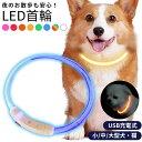 光る首輪 LEDライト 犬 猫 ペット 小型犬 中型犬 大型犬 長さ調節可能 USB充電式 夜の散歩 迷子防止 おしゃれ メール…