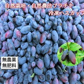 自然栽培・自然農法プラチナ 冷凍ハスカップ(1kg) 無農薬栽培 農薬不使用 無施肥
