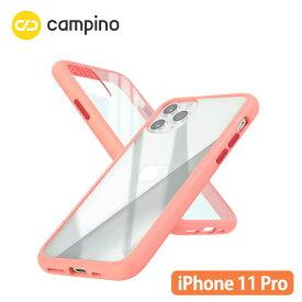 Campino カンピーノ Anti-shock Slim Case for iPhone 11 Pro 耐衝撃ケース フラミンゴピンク 3色の付替ボタンをカスタマイズ 衝撃吸収率85% ネコポス便配送
