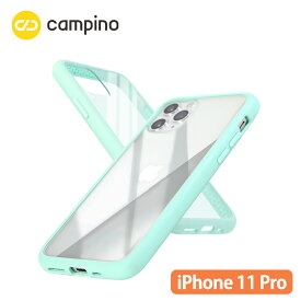 Campino カンピーノ Anti-shock Slim Case for iPhone 11 Pro 耐衝撃ケース アイスグリーン 3色の付替ボタンをカスタマイズ 衝撃吸収率85% ネコポス便配送