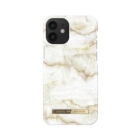 iDEAL OF SWEDEN ケース カバー iPhone 12 mini Fashion Case -Golden Pearl Marble ホワイト ゴールド 白