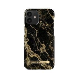 iDEAL OF SWEDEN ケース カバー iPhone 12 mini Fashion Case -Golden Smoke Marble ブラック ゴールド 黒