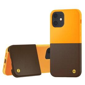 Campino カンピーノ iPhone12mini OLE stand II アイフォン ケース カバー スマホケース ベージュ オレンジ ブラウン 茶色 ネコポス便配送 スタンド