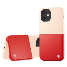 Campino カンピーノ iPhone12mini OLE stand II アイフォン ケース カバー スマホケース ピンク ホワイト 白 赤 レッド ネコポス便配送 スタンド