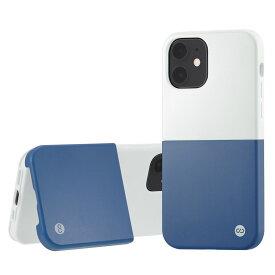 Campino カンピーノ iPhone12mini OLE stand II アイフォン ケース カバー スマホケース ホワイト 白 ブルー 青 シルバー ネコポス便配送 スタンド