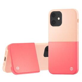 Campino カンピーノ iPhone12mini OLE stand II アイフォン ケース カバー スマホケース ピンク レッド 赤 ネコポス便配送 スタンド