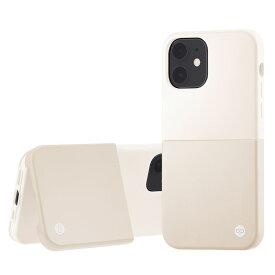 Campino カンピーノ iPhone12mini OLE stand II アイフォン ケース カバー スマホケース ホワイト シルバー 白 銀 ネコポス便配送 スタンド
