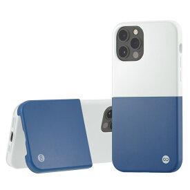 Campino カンピーノ iPhone12Pro iPhone12 OLE stand II アイフォン ケース カバー スマホケース ブルー 青 白 ホワイト ネコポス便配送 スタンド